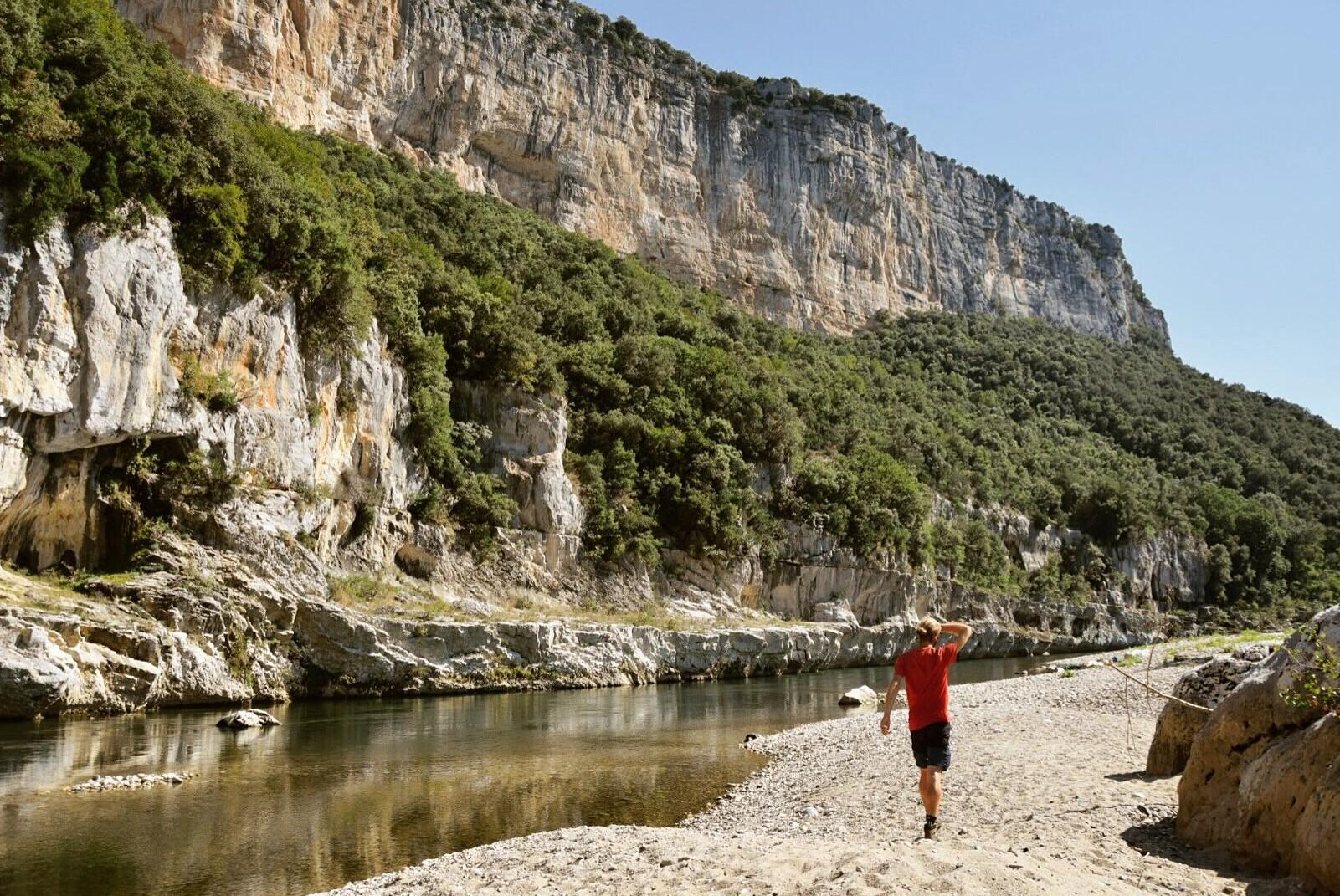 A l'intérieur des gorges de l'Ardèche